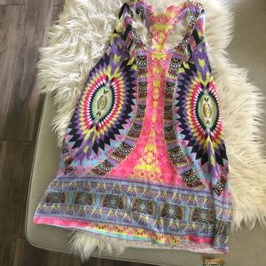Tops - Colorful boutique tunic tank